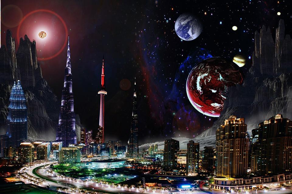 космические города фото красной розой