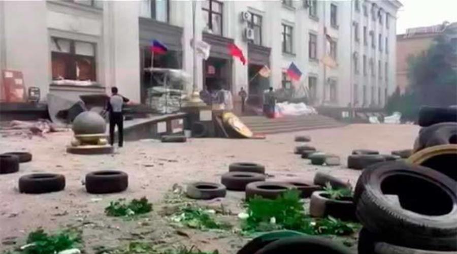 Луганская обл. администрация после бомбардировки