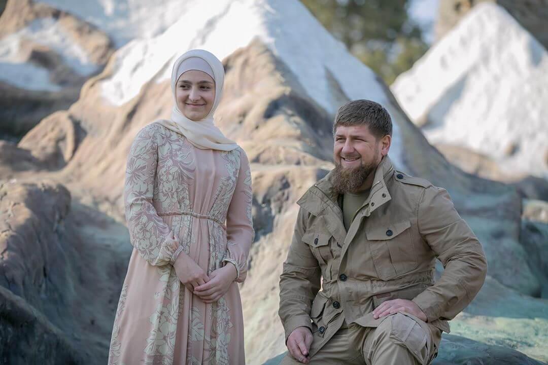 Айшат Кадырова и Рамзан Кадыров