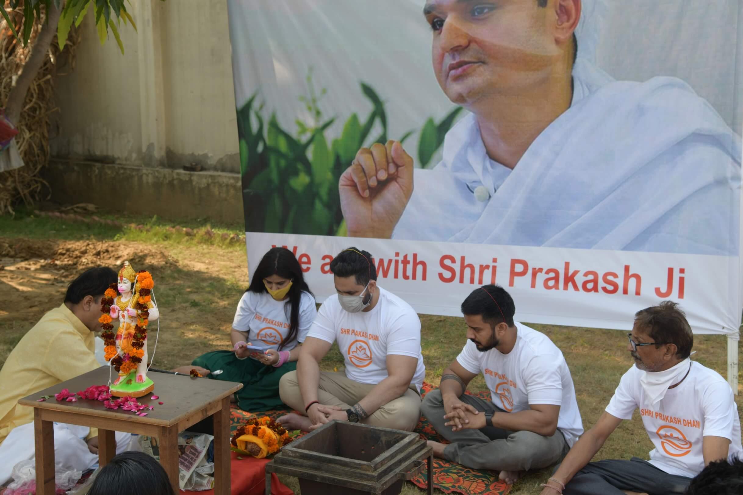 индийская молитва у огня Хануман ягья