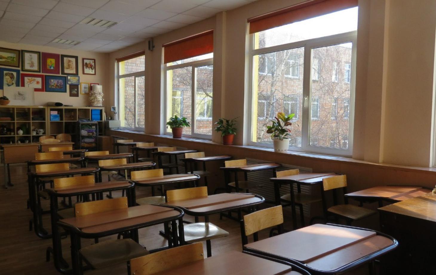 Пустой класс школы