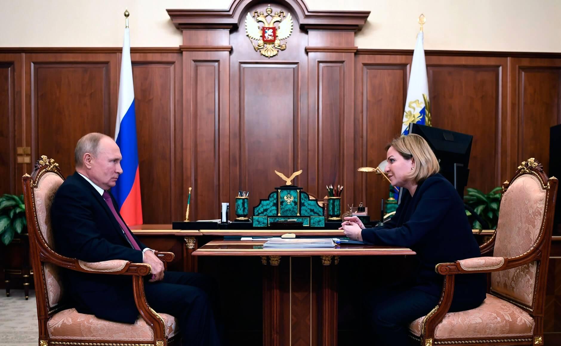 Владимир Путин и Ольга Любимова