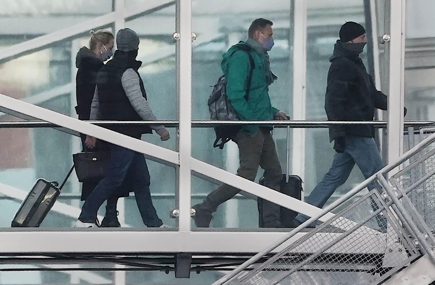 Алексей Навальный по возвращении из Германии