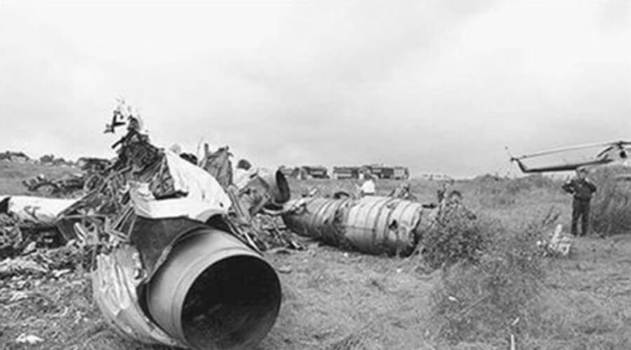 Разрушенный самолёт