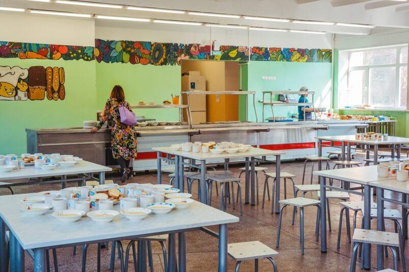 Школьная столовая. Фото: Мария Бородина, ИА PrimaMedia