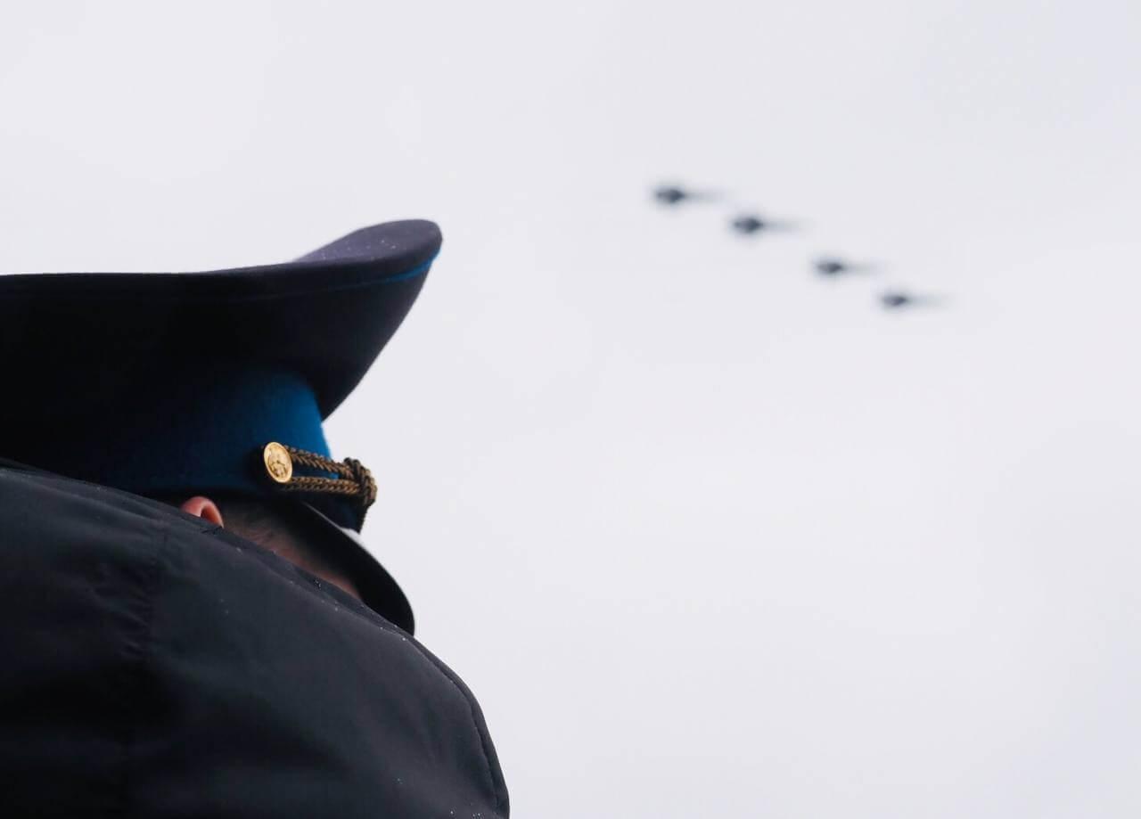 Воздушная часть парада Победы в Москве