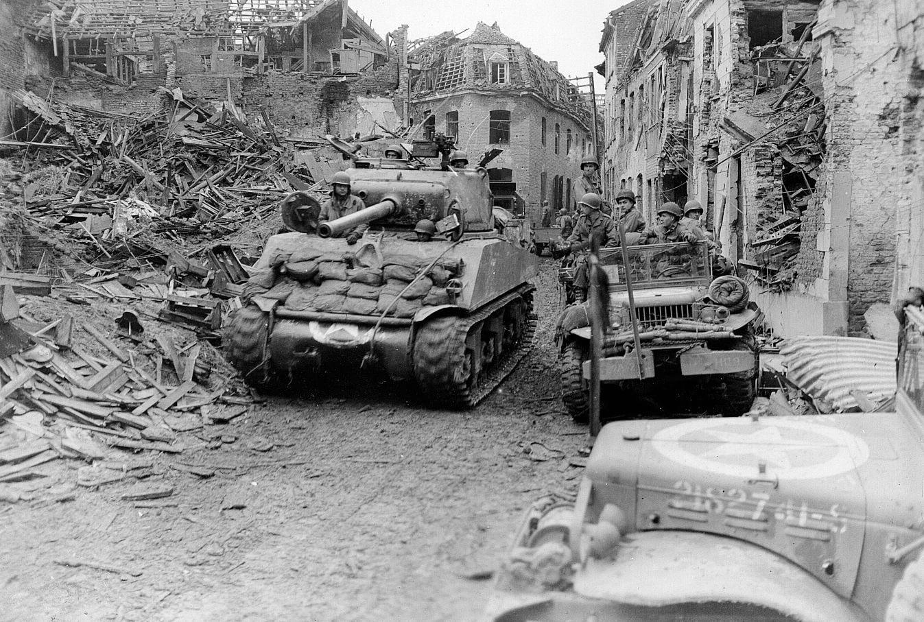 Немецкая бронетехника во время Арденнского наступления