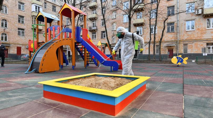 Обработка детской площадки