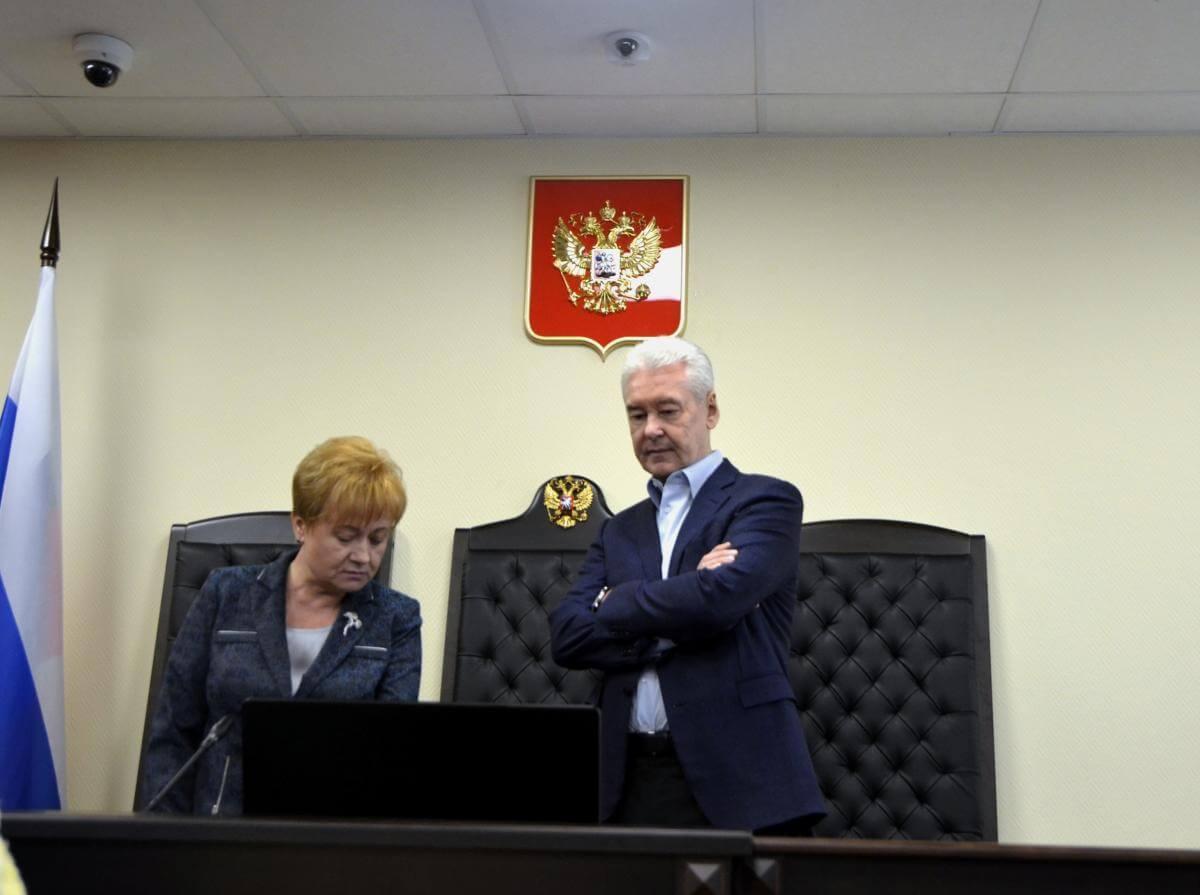Ольга Егорова и Сергей Собянин