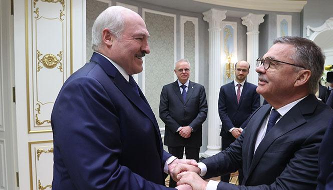 Александр Лукашенко с Рене Фазелем