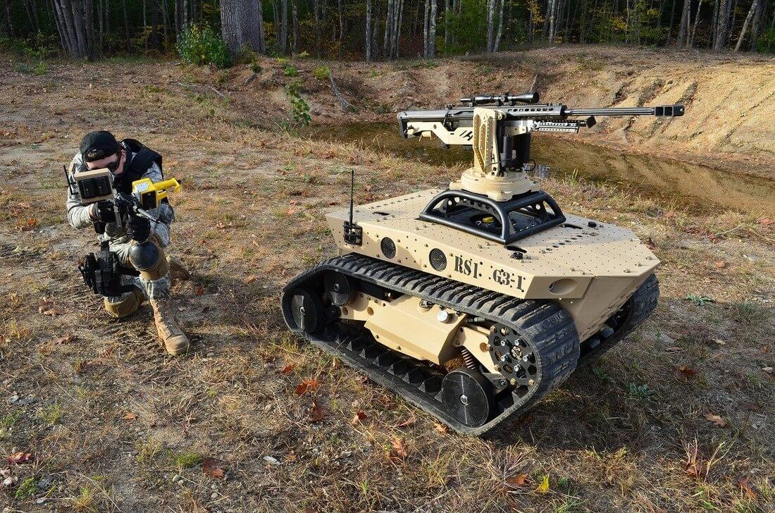 Беспилотный танк. Фото: