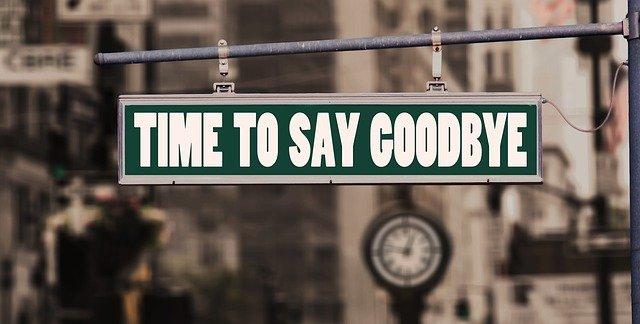 """Вывеска """"Прощай"""""""