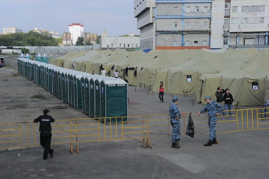 Лагерь мигрантов