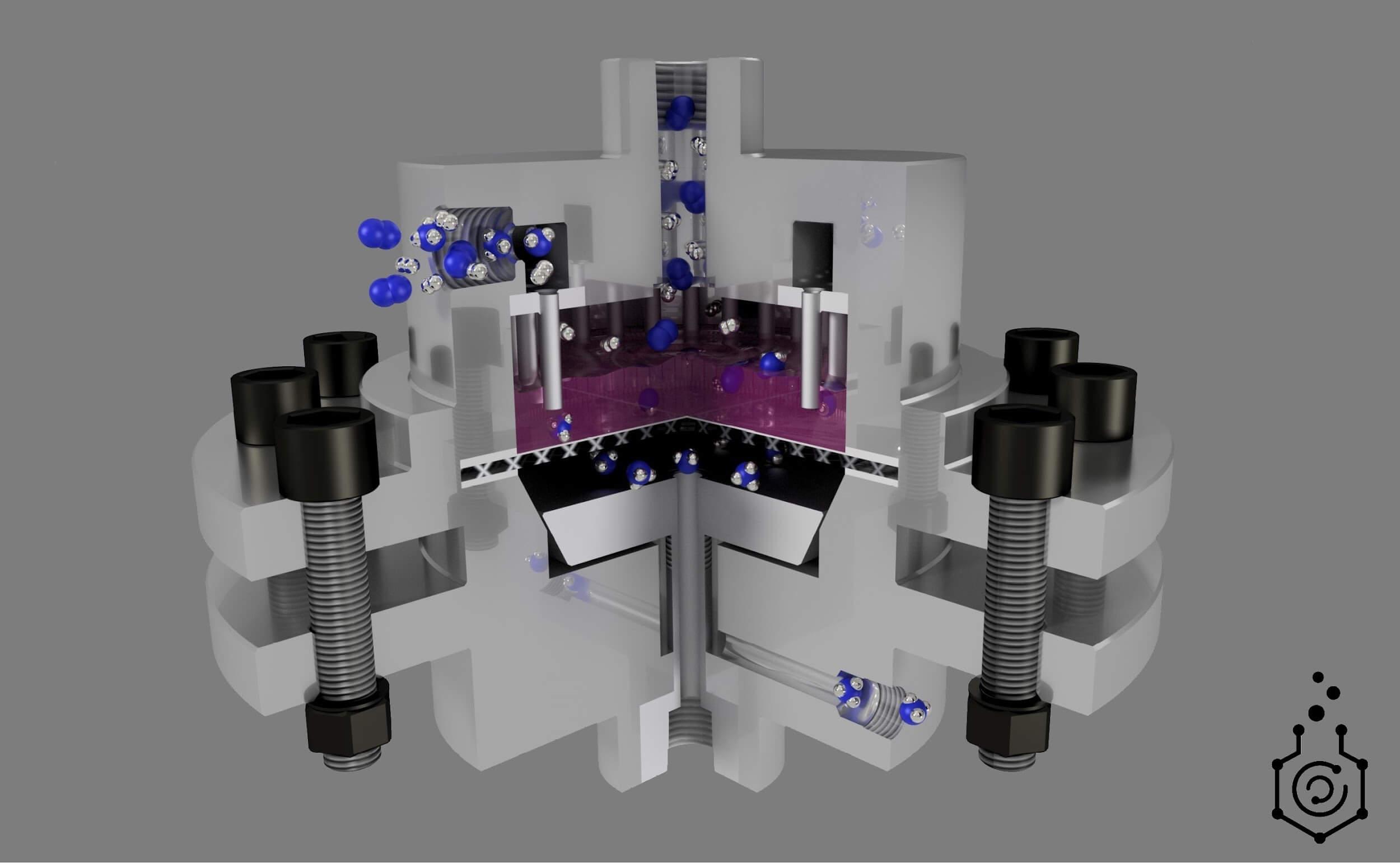 Установка для очистки газообразной смеси продуктов синтеза аммиака