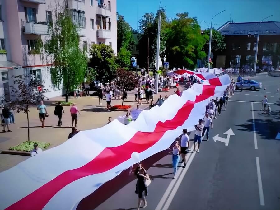 Флаг протестующих в Беларуси