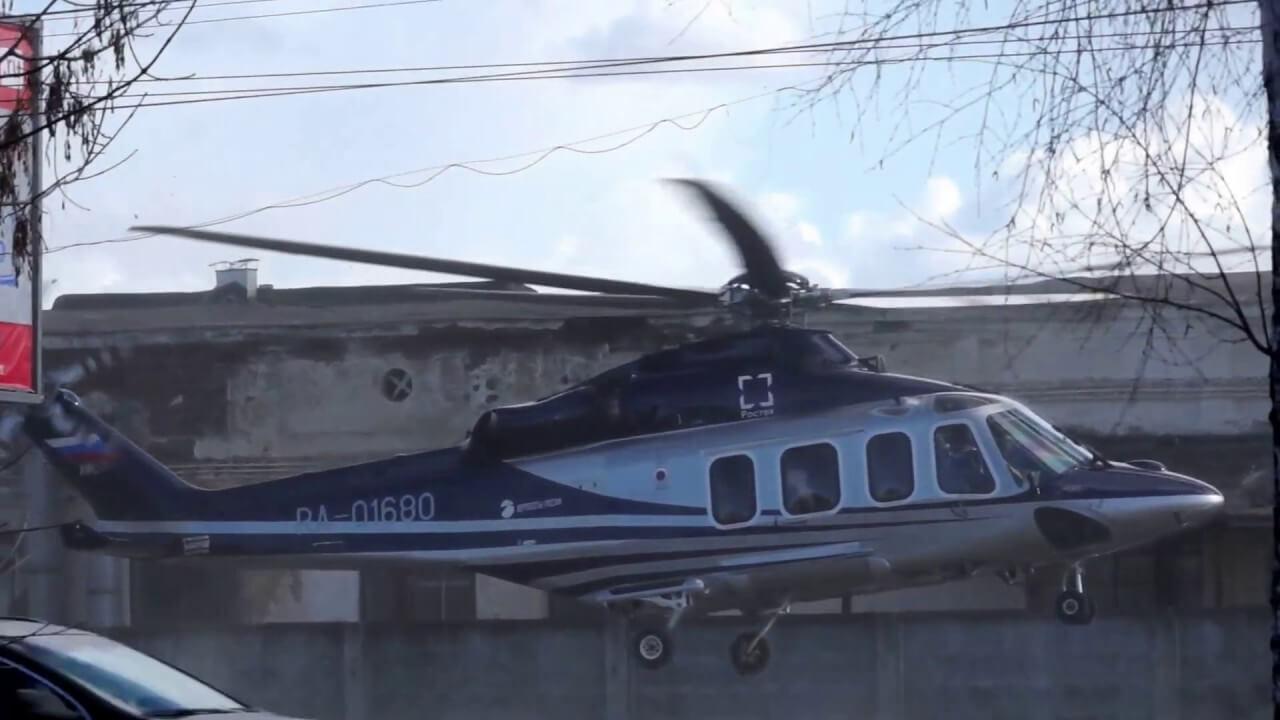 Взлет вертолета Владимира Путина