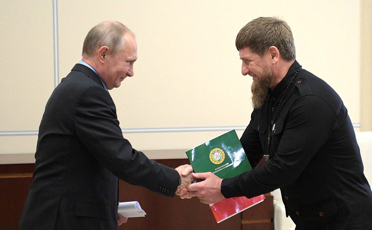 Рабочая встреча Президента России Владимира Путина с Главой Чеченской Республики Рамзаном Кадыровым
