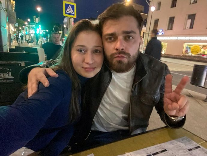 Марина Панкратова с женихом