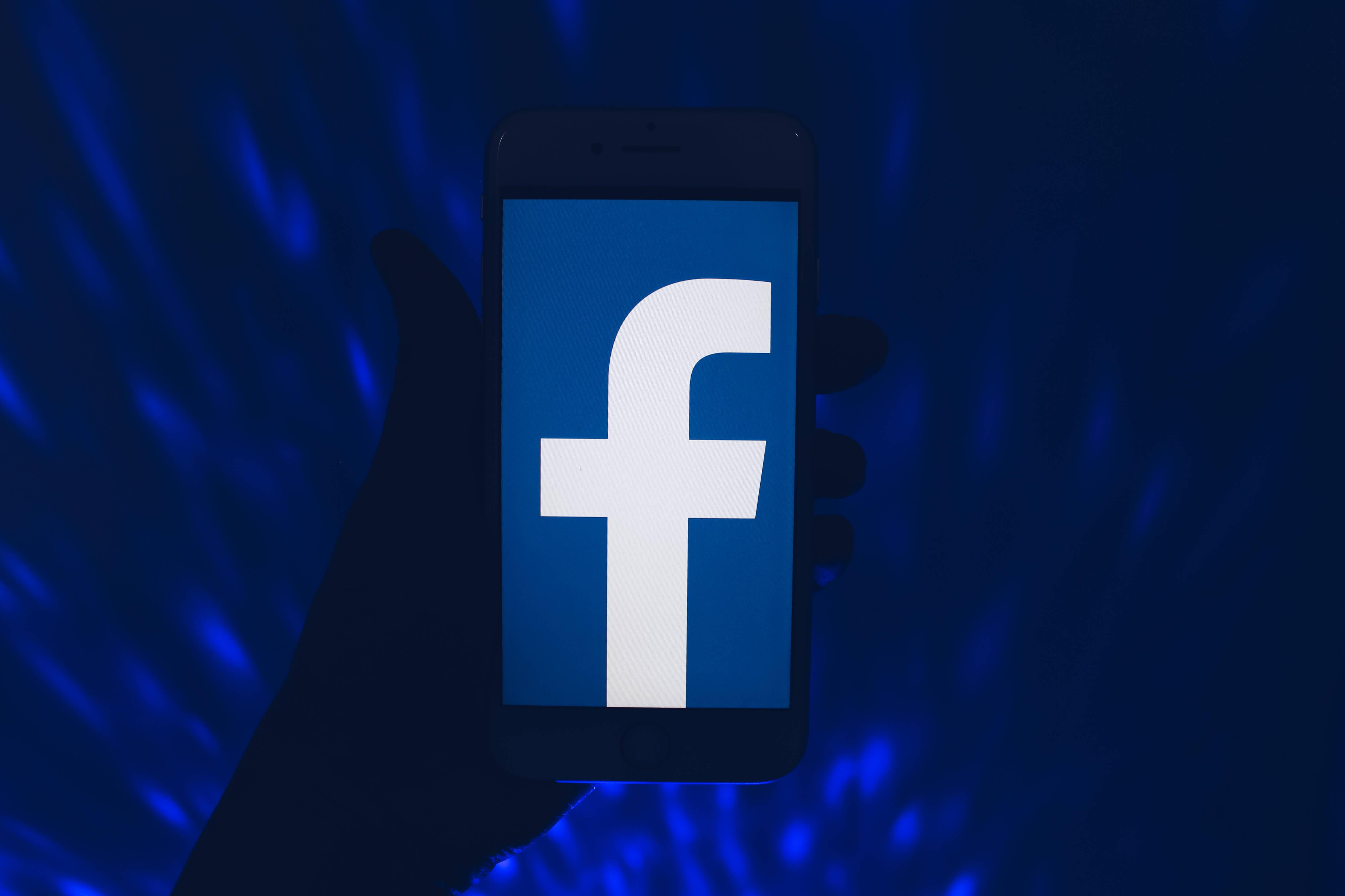 Сбой Facebook .