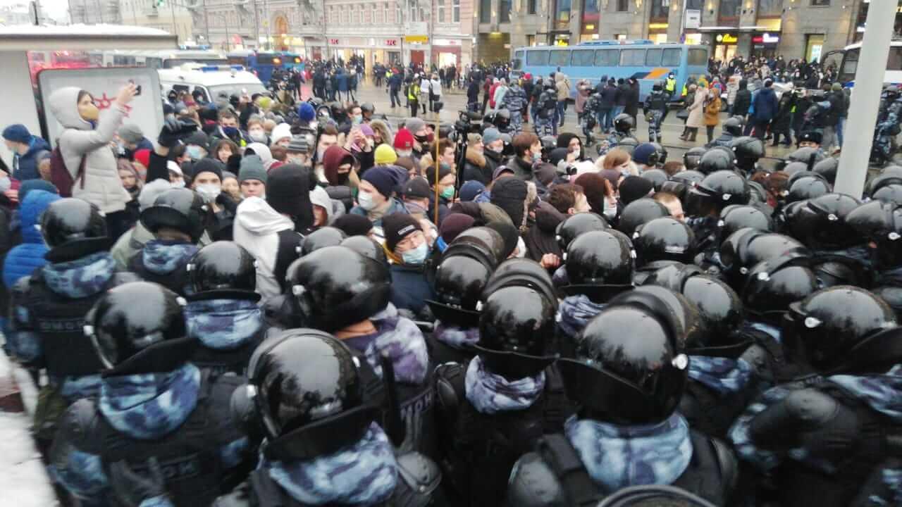 В России задержаны около 2 000 человек