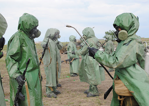 Командно-штабное учение (КШУ) с отдельным соединением радиационной, химической, биологической (РХБ) защиты Западного военного округа (ЗВО), дислоцированным в Курской области