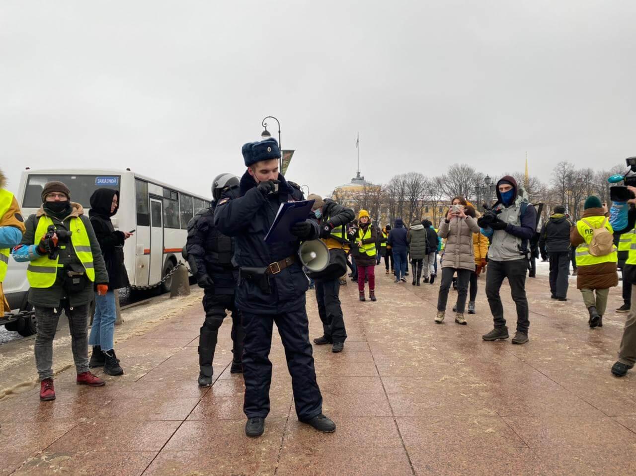 Митинг за Алексея Навального в Санк-Петербурге