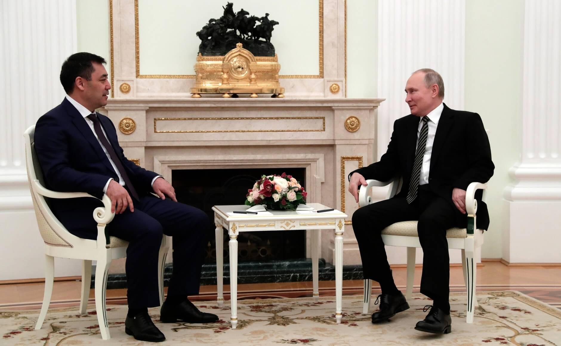 Садыр Жапаров и Владимир Путин