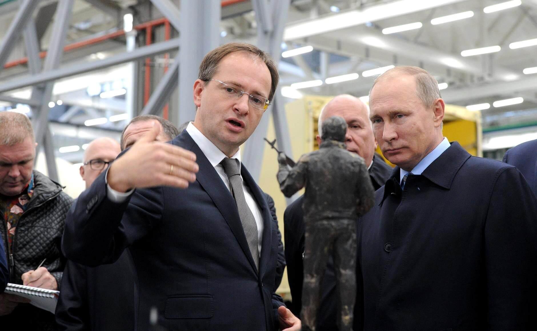 Владимир Мединский и Владимир Путин
