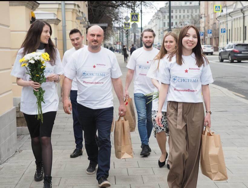 Волонтеры акции #помнимВместе