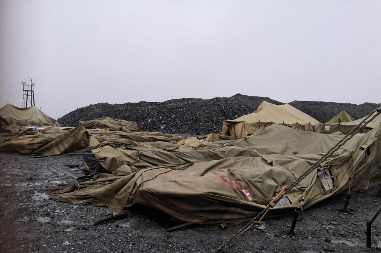 Лагерь для вахтовиков в Красноярском крае