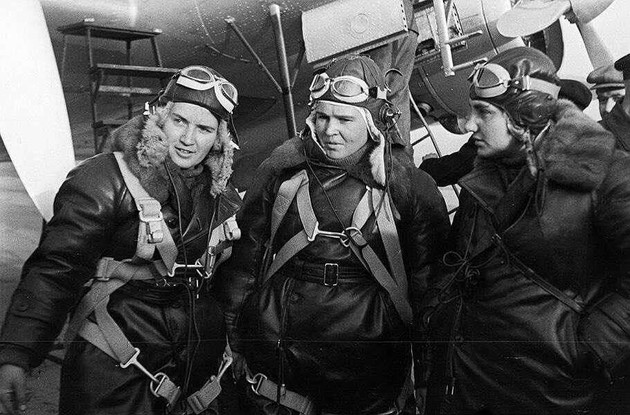 Марина Раскова, Валентина Гризодубова и Полина Осипенко. Фото: Архив