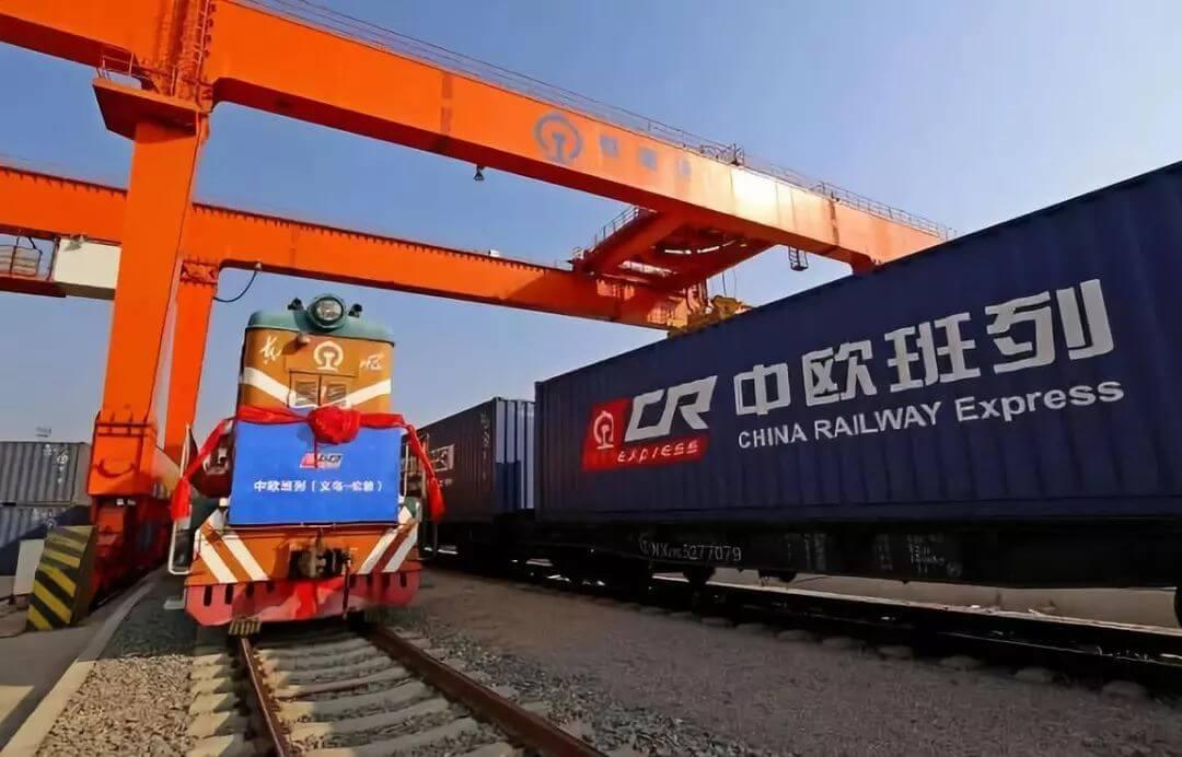 Китай. Грузовой поезд