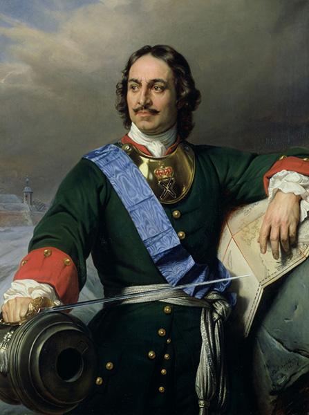 Петр I. Художник Поль Деларош (1838)